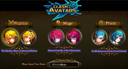 Clash of Avatars review - classes