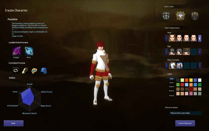 Crush Online review - character creation