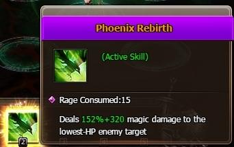 Healer skill phoenix rebirth